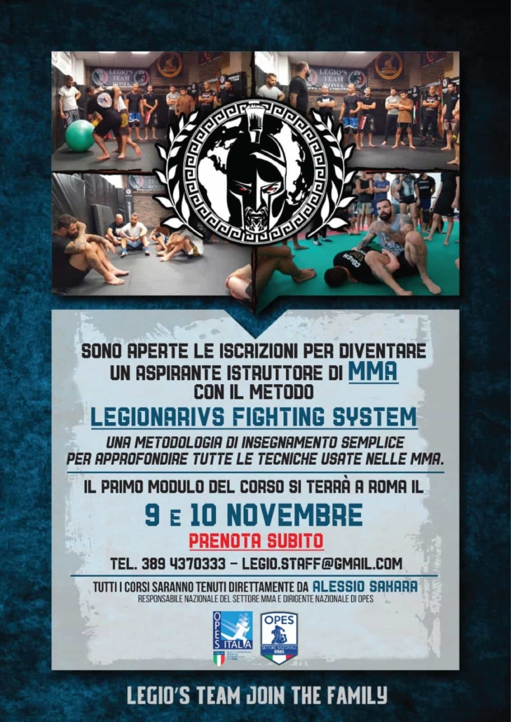 Apprendere il metodo Legionarius Fighting System con Sakara